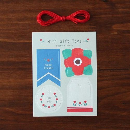 Mini Retro Gift Tag