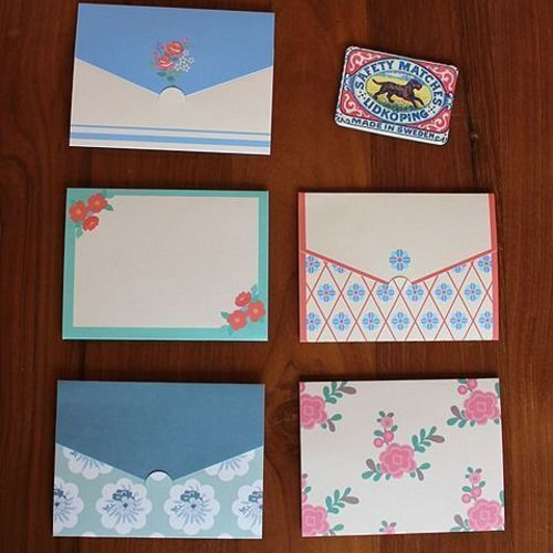 Mini Pattern Envelope Card Set