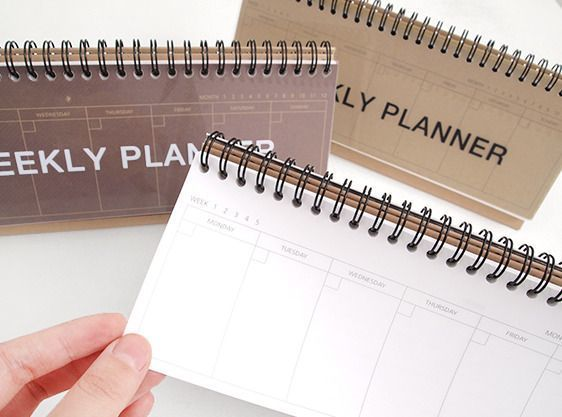 Kraft Standing Weekly Planner