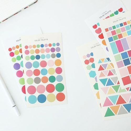Color Palette Deco Sticker Set