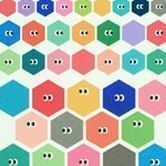 SOM SOM Deco Sticker Set, Hexagon