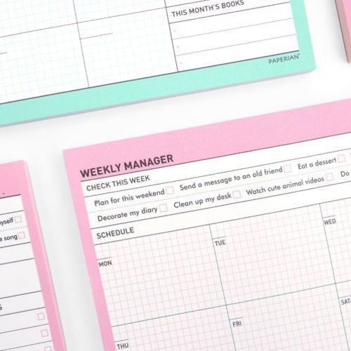 Weekly Manager Notepad