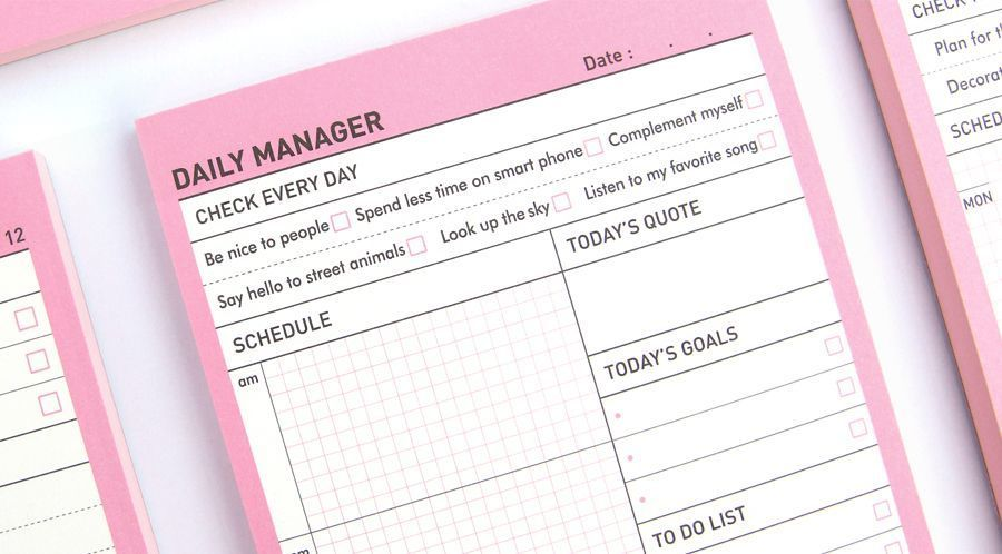 Daily Manager Notepad