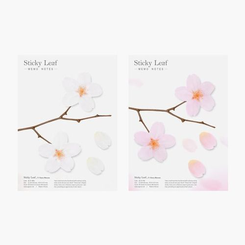 Cherry Blossom Leaf Tracing Sticky Note