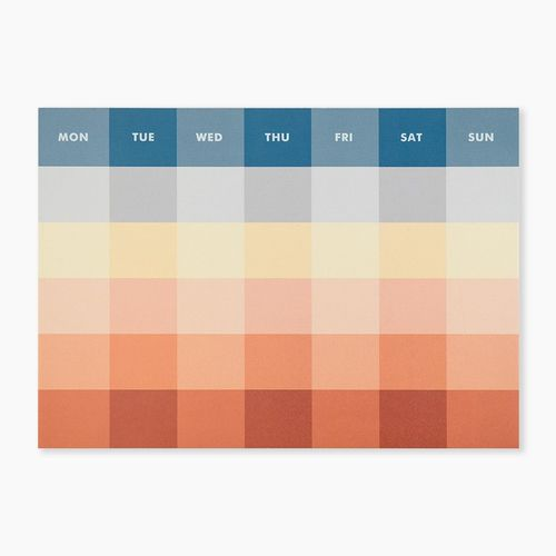 Palette Monthly Notepad