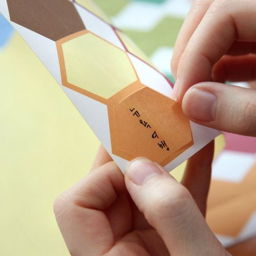 Large Hexagon Index Sticker Set