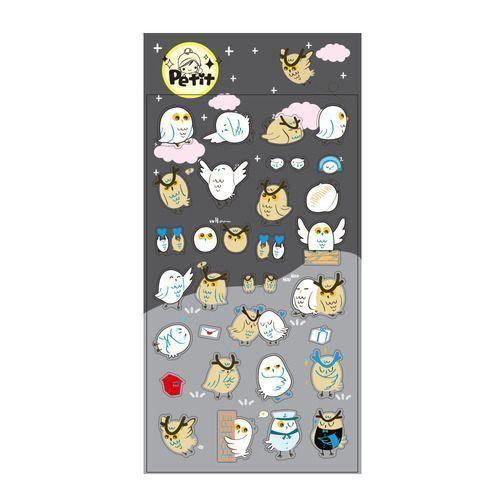 Twin Owl Petit Sticker