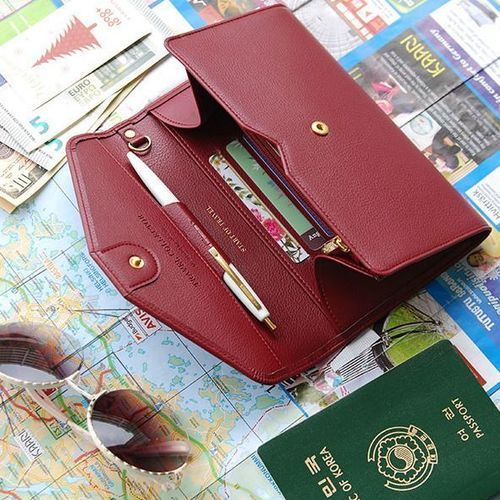 Travel Leather Clutch