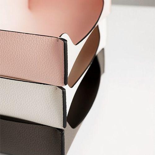 Edge Medium Leather Tray