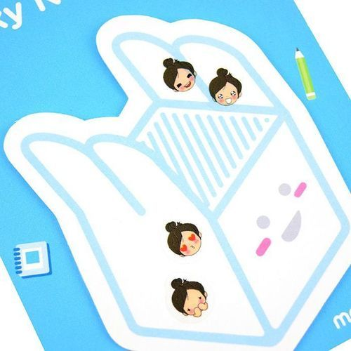 Long Hair Girl Emoticon Sticker