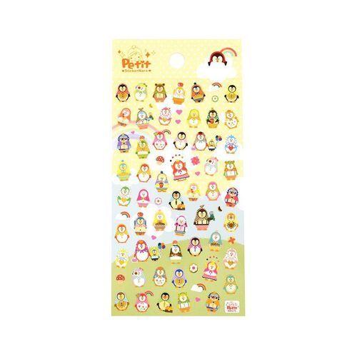 Poncho Penguin Deco Sticker