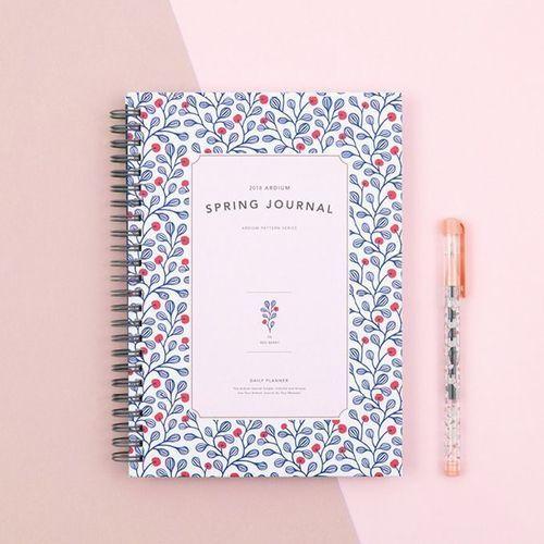 2018 Ardium Spring Journal Planner
