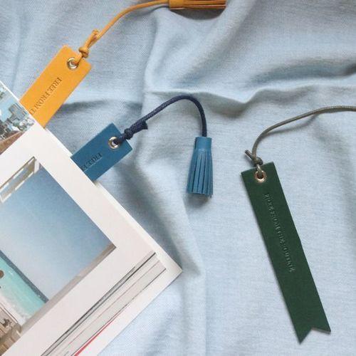 Classic Genuine Leather Tassel Bookmark