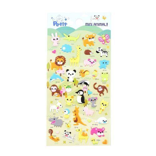 Mini Animal Puffy Deco Sticker