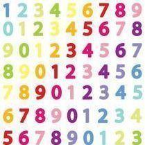 Rainbow Number Sticker