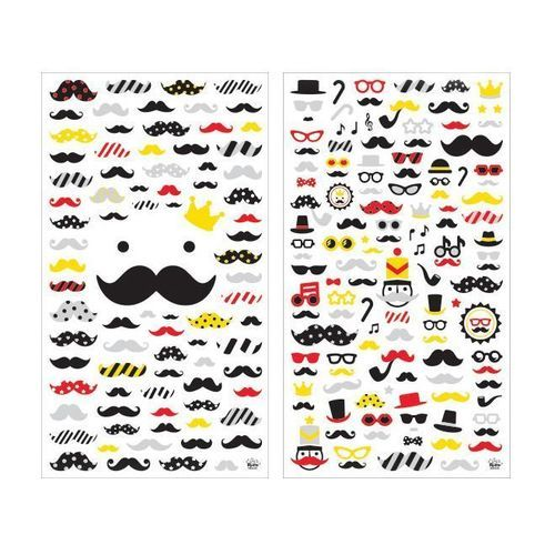 Mr. Mustache Deco Sticker