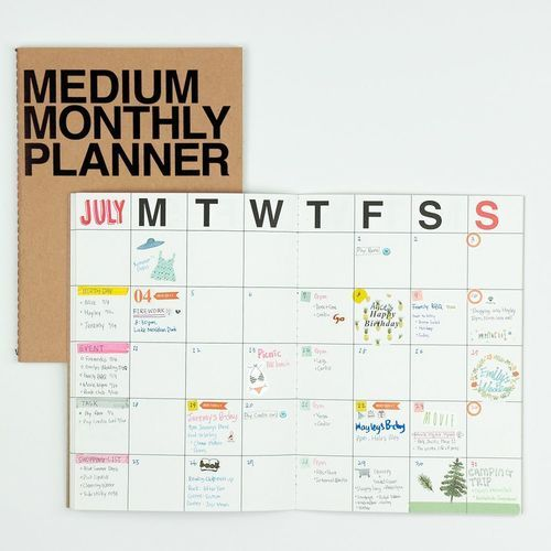 Medium Monthly Planner