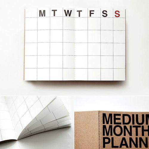 Medium Monthly Planner