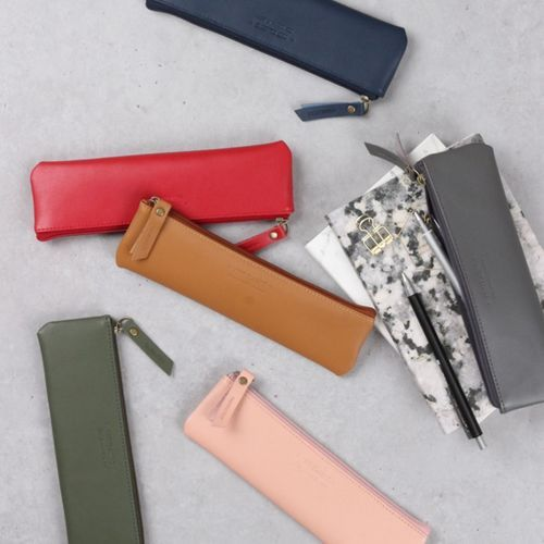 Classic Genuine Leather Flat Pouch