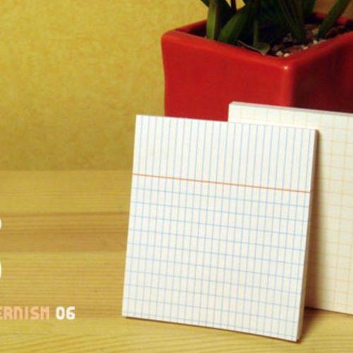 Grid Pattern Sticky Note Set