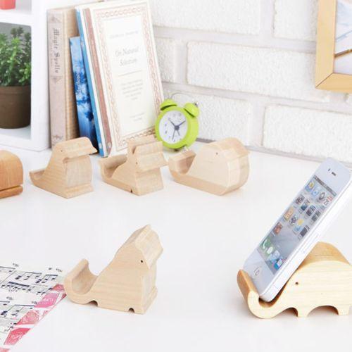 Animal Wood Phone Stand