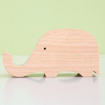 Animal Wood Phone Stand, Elephant