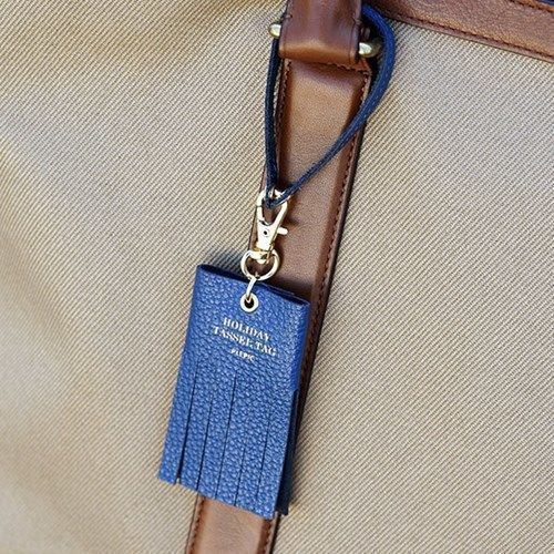 Genuine Leather Holiday Tassel Tag