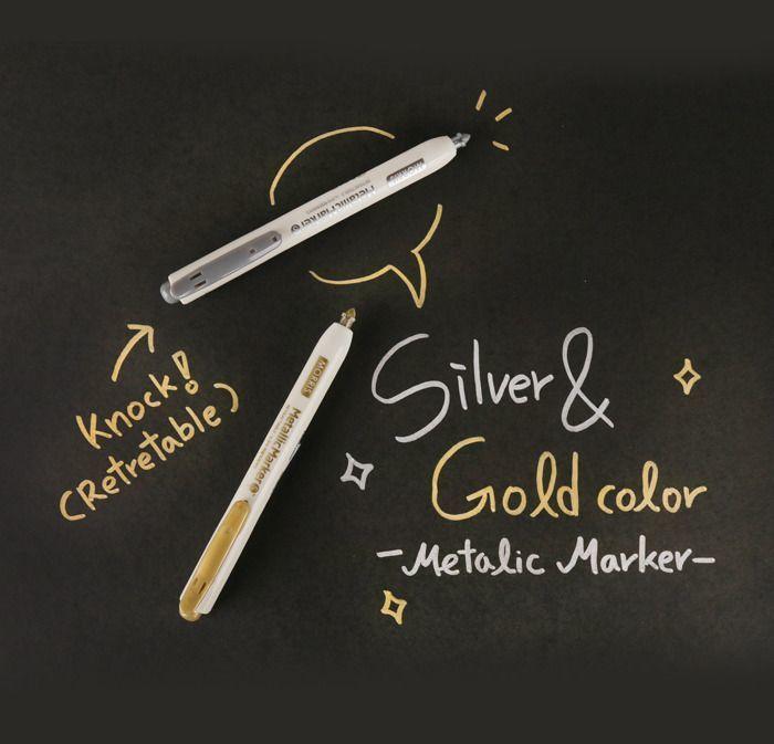 Small Metallic Retractable Marker