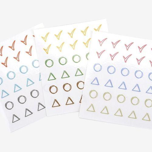 Shape Deco Sticker Set v4