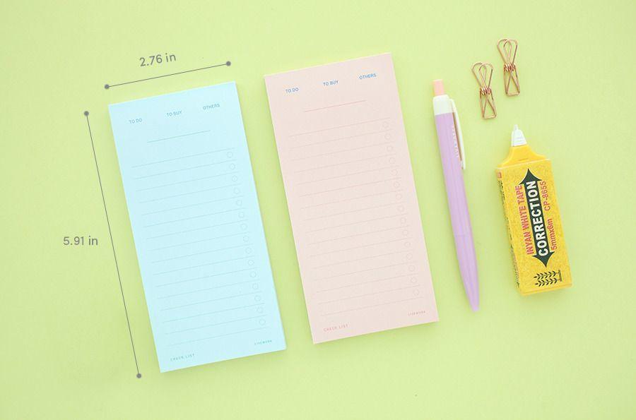 Pastel Planning Memo Pad