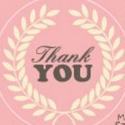 Thank You Message Sticker Set, Set 03