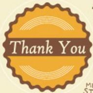 Thank You Message Sticker Set, Set 04