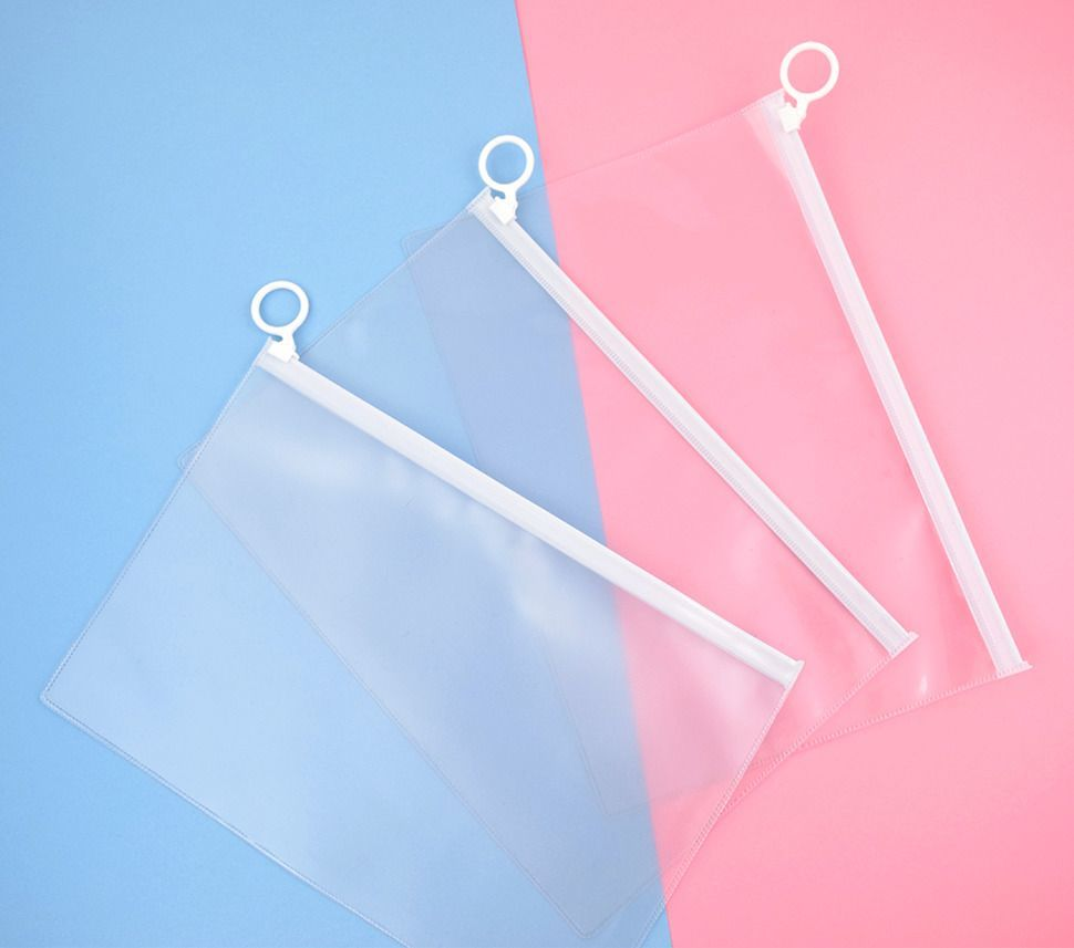 White PVC Ring Pouch