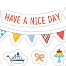 Toffeenut Deco Sticker, Have a Nice Day