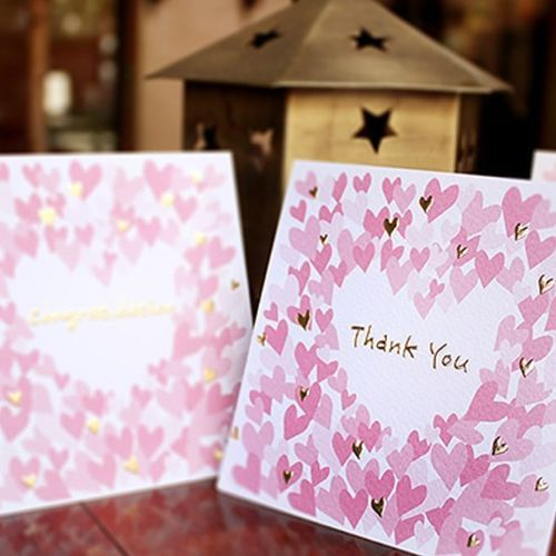 Blooming Heart Thank You Card