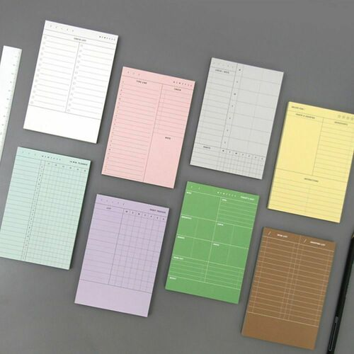 Vintage-colored Planning Notepad