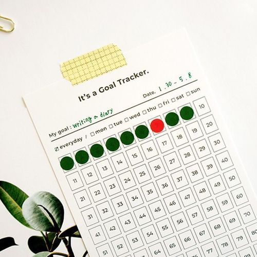 100 Days Goal Tracking Sheets