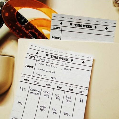 Vintage Weekly Schedule Notepad