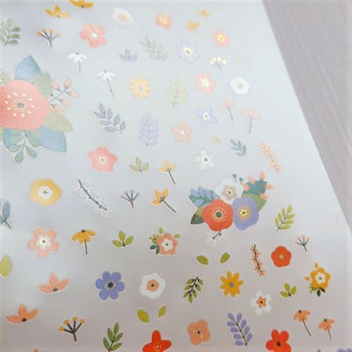 Flowery Nail Deco Sticker