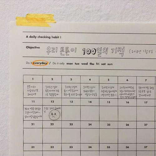 100 Days Goal Planning Sheet