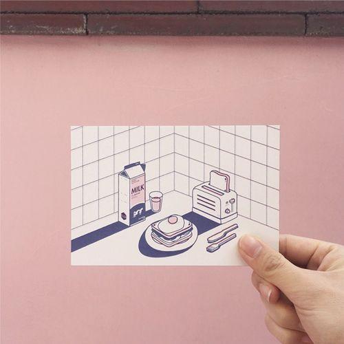 Salut Day & Night Postcard