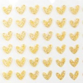 Gold Heart Deco Sticker