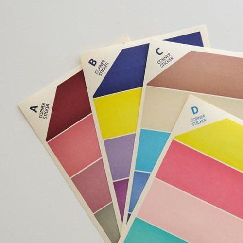Colorful Corner Deco Sticker Set