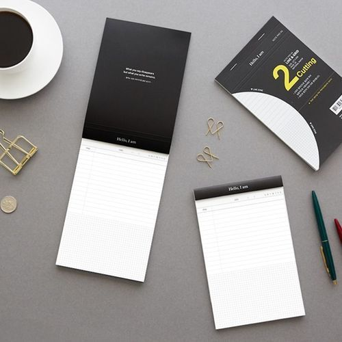 Dual Section Notepad