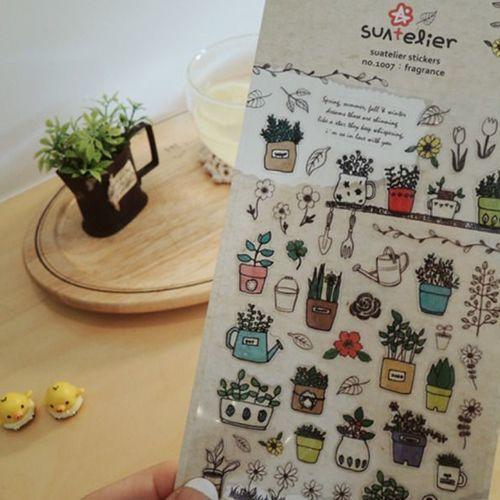 Plant Epoxy Deco Sticker