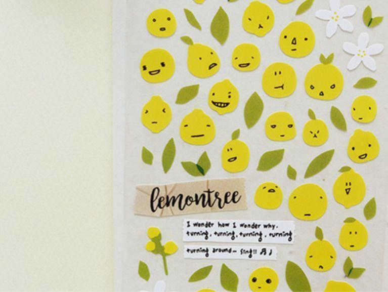 Lemon Emoji Deco Sticker