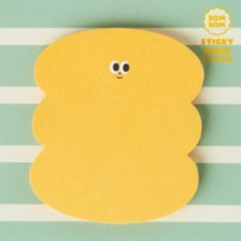 Large SOM SOM Sticky Note, Yellow Bubble