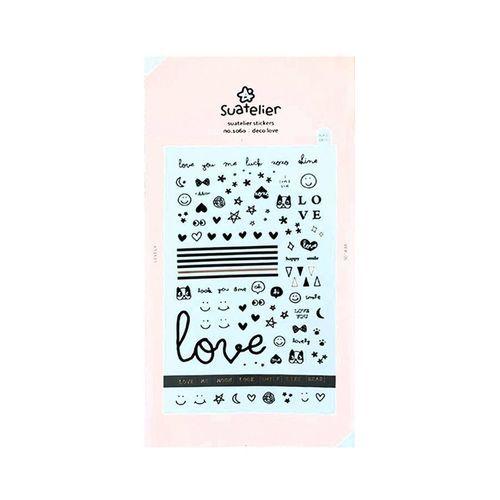 Black Love Nail Deco Sticker