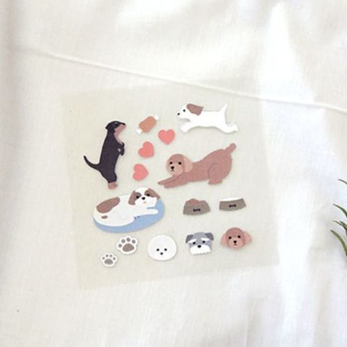 Puppy Deco Sticker Set