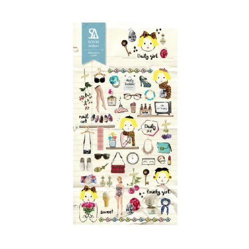 Daily Girl Deco Sticker